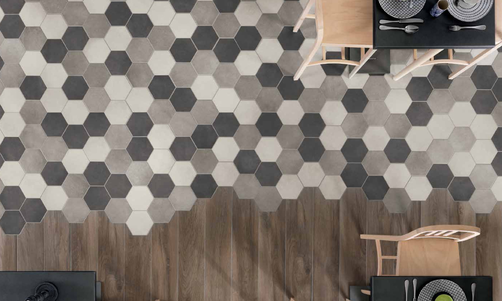 Hexagonal Floor Tiles Walls Floors Material Plans